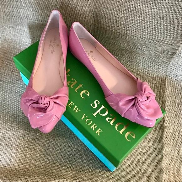 45bda036775f Kate Spade Parisian Pink Patent Nancy Flat